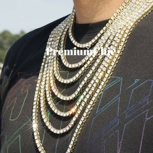 Men's Hip Hop Chain Bling Tennis Choker